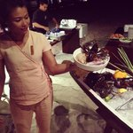 Friday night market seafood at the restaurant