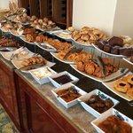 Part of the breakfast spread.