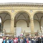 Museum's open arches facing Piazza della Signoria