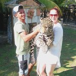 Simba, Mathew (the trainer) and I