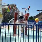 Water park inside resort