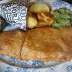 Melt-in-the-mouth, huge, delicious fish and chips