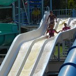 Slides at the pool