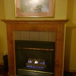 Fireplace in the king suite
