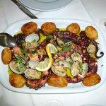 Polvo grelhado com Batatas (frisch)
