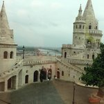 Fisherman's bastion and view to Danube River - day time