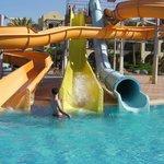 Водные горки на территории отеля