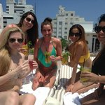 Rooftop pool and drinks