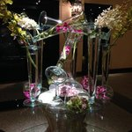 Floral arrangement in lobby area