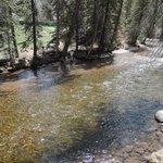 Gore Creek runs through the park area