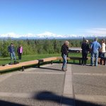 viewing deck just off lobby of Talkeetna Lodge