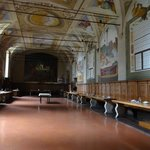 Abbazia di Monte Oliveto Maggiore il refettorio