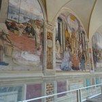 Abbazia di Monte Oliveto Maggiore affreschi del chiostro