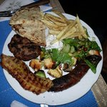 Mixed grill for 1 person. Delicious,  very good meat and good prepared