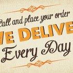 We deliver Monday - Saturday!