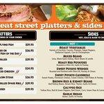 Eat Street & Co's Platters menu