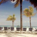 Calm hotel beach
