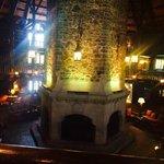 Fireplace on lobby level