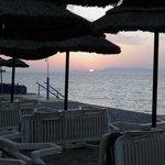 Wieczorny widok z hotelowej plaży