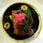 Filet of beef with mole chichilo
