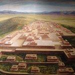 Una vista recreada en un mural del Museo Nacional de Antropología que retrata la maravillosa Ciu