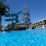 Main pool water slides