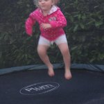 trampoline in the garden went down well