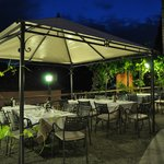 The terracce at naight