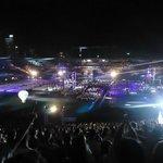 A noite Dentro do estádio