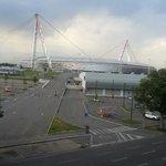Vista dalla terrazza sullo Juventus Stadium