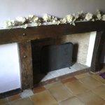La cheminée dans notre chambre