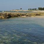 Une plage à l'eau limpide