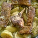 Lamb with potatoes in the oven