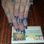 Modern nails 3rd floor.  Ask for amy