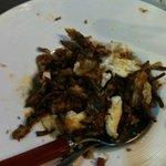Alcachofas con jamón y huevo roto