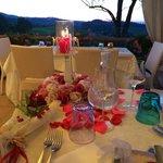seconda postazione per la cena romantica