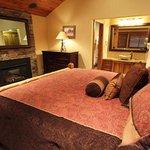 Relaxing master bedroom in a 3 bedroom plus loft unit
