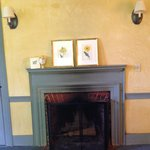 Lovely fireplace in room 203