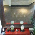 Mirror in lobby