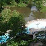 The pool area below.