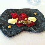 Carpaccio et foie gras