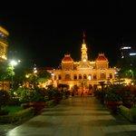 former city hall at night