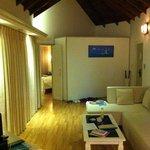 Water villa - living room