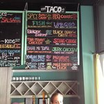 Menu at White Duck Taco