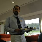 Waiter in the dining car