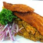 Tacu Tacu with breaded fish
