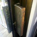 slider door handle broken, filthy and doesn't lock/ close