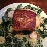 Local Kale salad with grilled salmon!