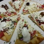 Greek Nachos are a nice lite appetizer or meal.