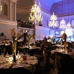 Dinner set up in the Ball Room